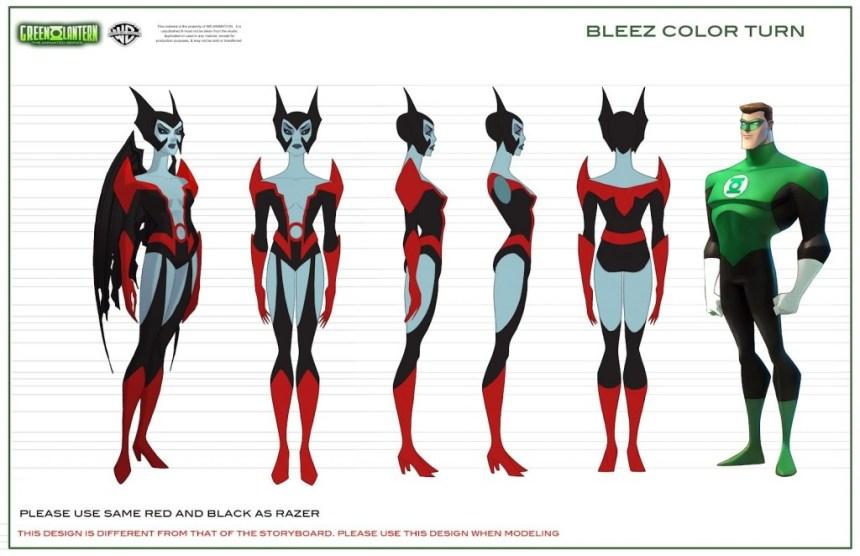 Bleez - Green Lantern: The Animated Series Concept Art
