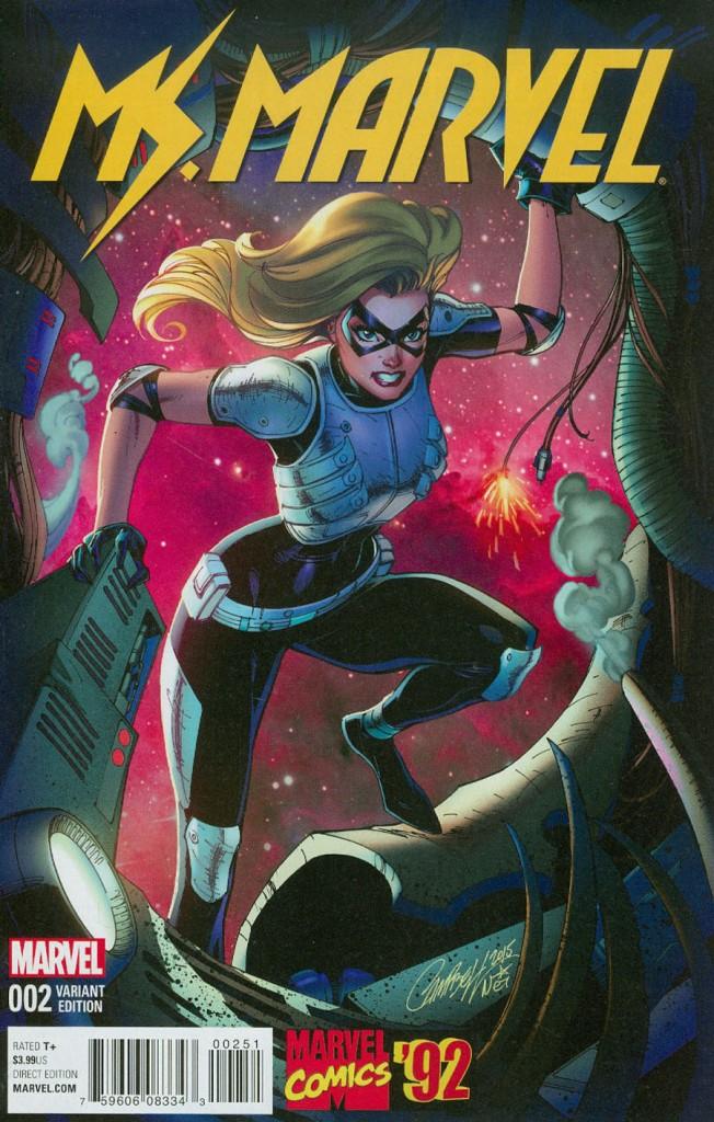 Ms Marvel #2 J Scott Campbell Marvel 92 Variant