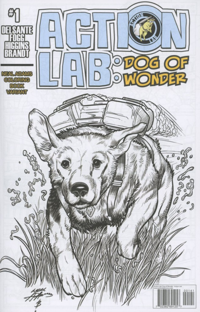 Action Lab: Dog of Wonder #1 Neal Adams Coloring Variant
