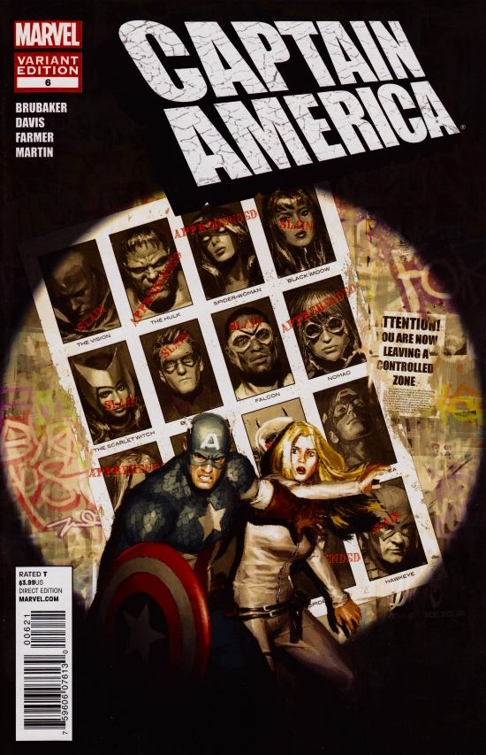 Captain America #6 Gerald Parel Marvel 50th Anniversary Variant