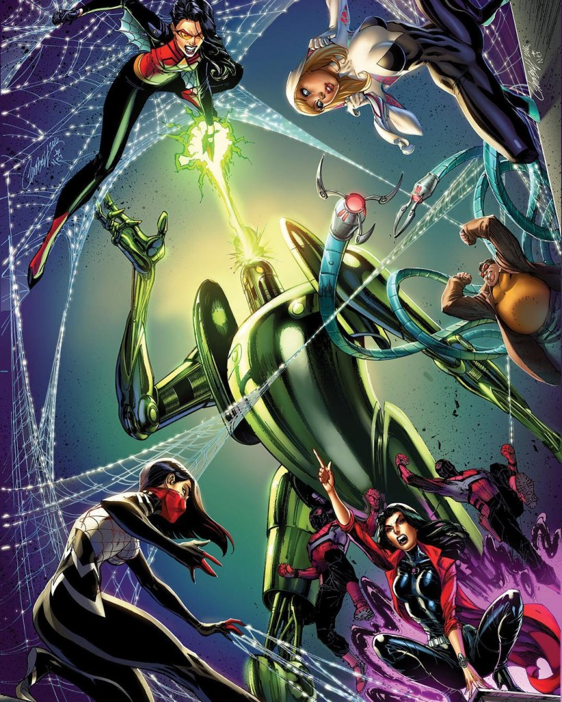 Spider-Women J. Scott Campbell Connecting Covers
