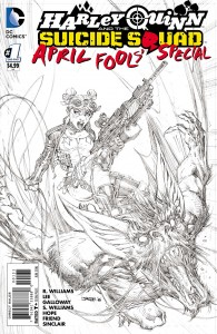 Harley Quinn And The Suicide Squad April Fools Special #1 Jim Lee Sketch Variant