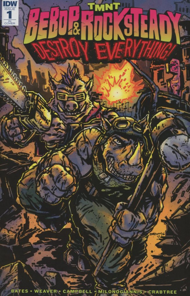 TMNT: Bebop & Rocksteady Destroy Everything #1 Kevin Eastman 1:25 Variant