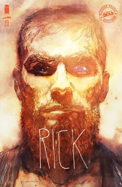 Walking Dead #175 Cover B Variant Bill Sienkiewicz Cover