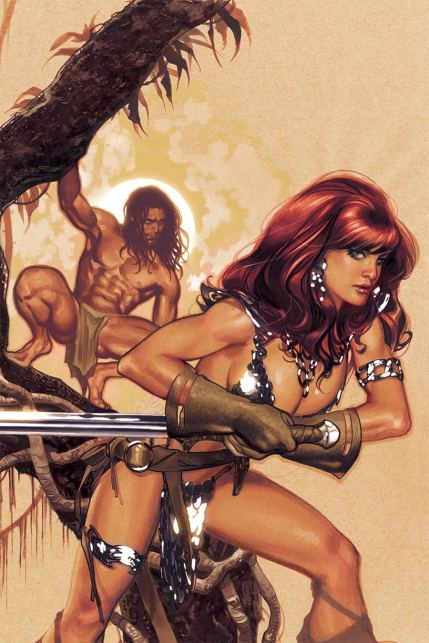 Red Sonja Tarzan #1 Cover J Incentive Adam Hughes Virgin Cover