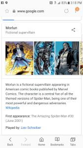 Google shows Liev Schreiber plays Morlun