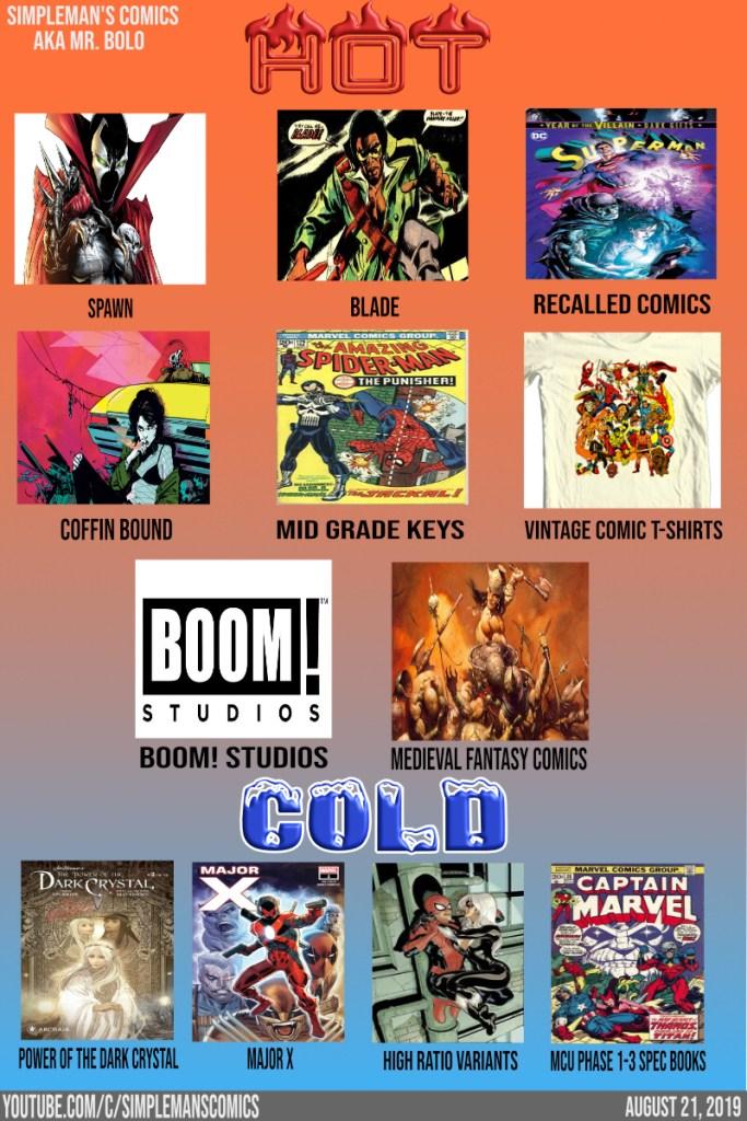 Hot and Cold Comic Book List August 21, 2019 | CBSI Comics