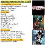 #CBSIBOLO List For NCBD 10/23/19