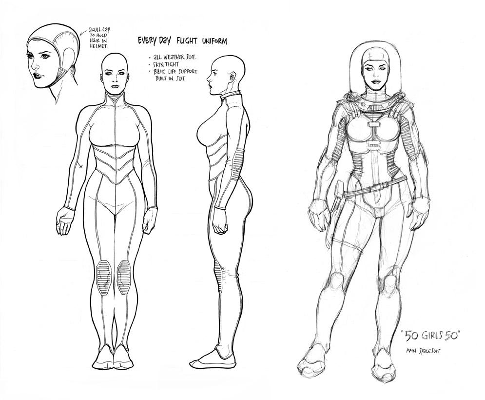 Frank Cho Character Designs