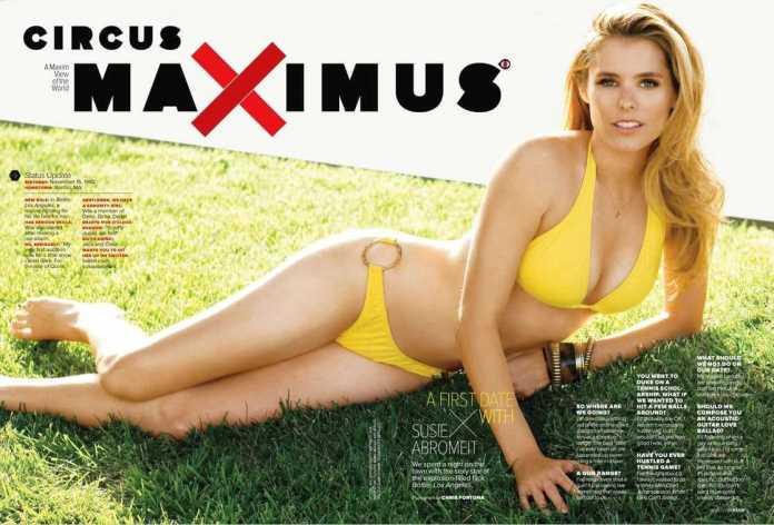 Susie Abromeit sexy yellow bikini pics