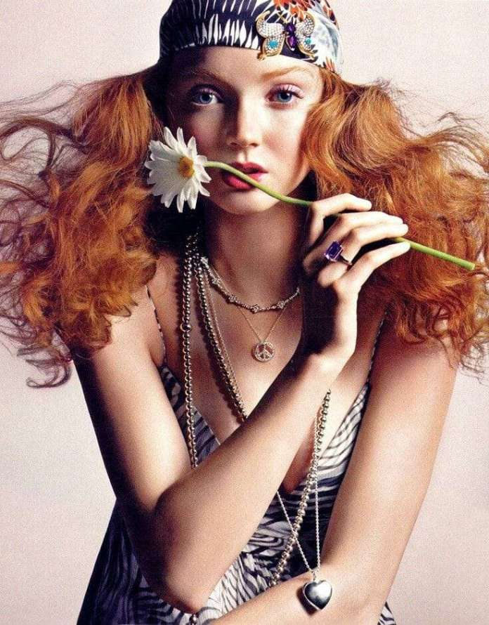 lily cole sexy look