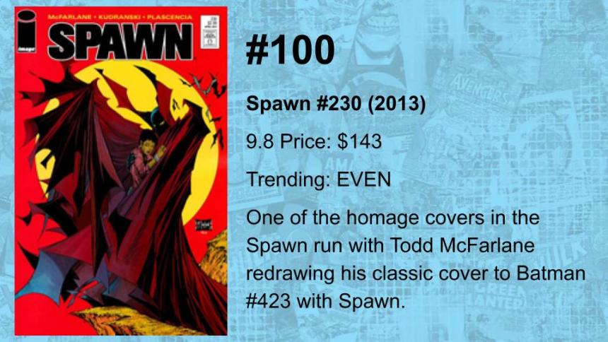 100-81 THE TOP 100 MODERN COMICS (BY VALUE)(19)