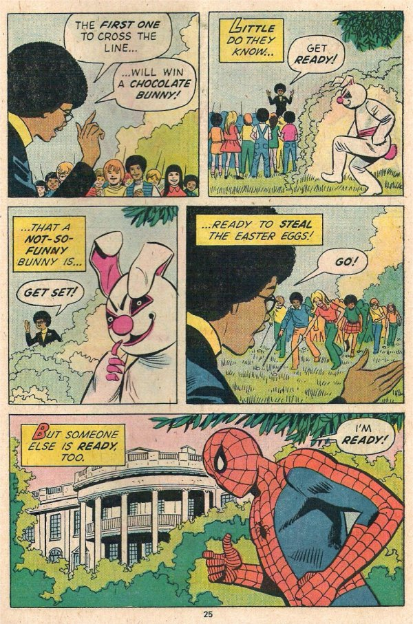 Spidey Fights the Funny Bunny 5