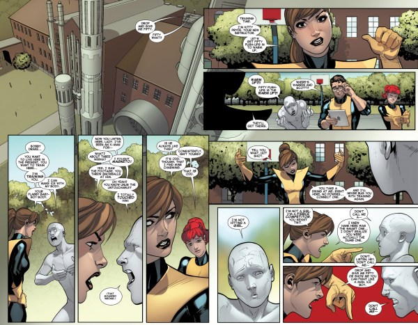 kitty pryde trains the original 5 iceman
