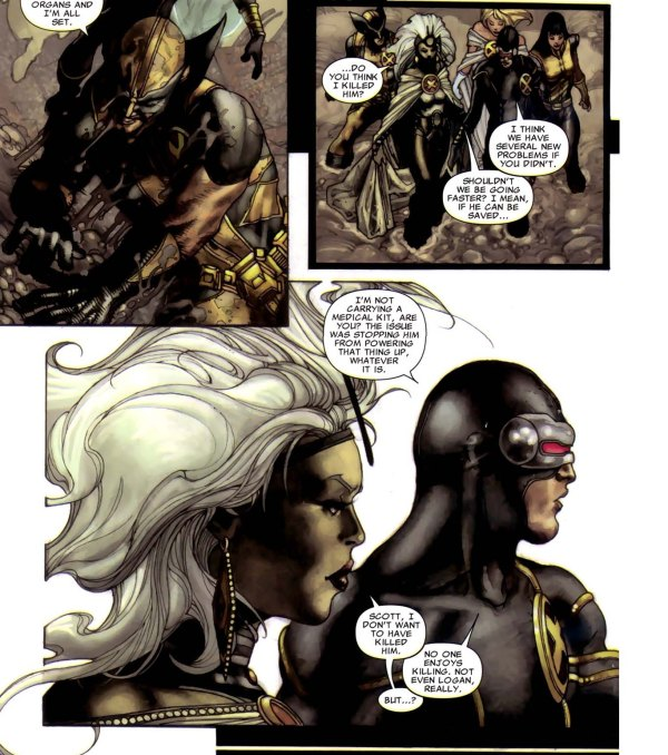 Cyclops and Storm Discuss Killing