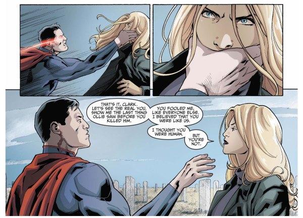 black canary attacks superman 3