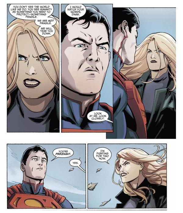 black canary attacks superman 4