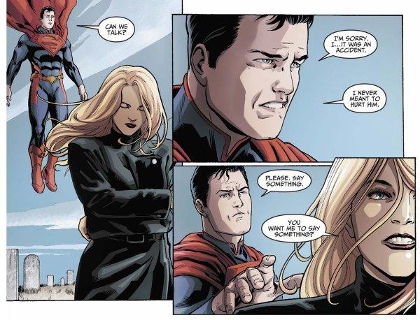 black canary attacks superman