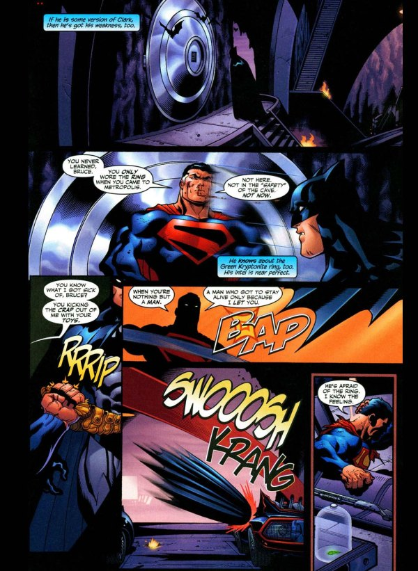 future superman confides something to batman