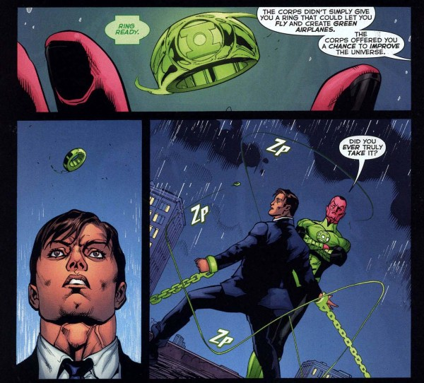 sinestro constructs a green lantern ring