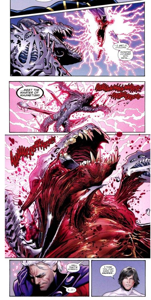 x-men takes down a predator x