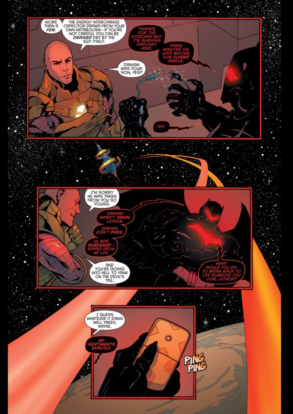 luthor helps with the hellbat 3