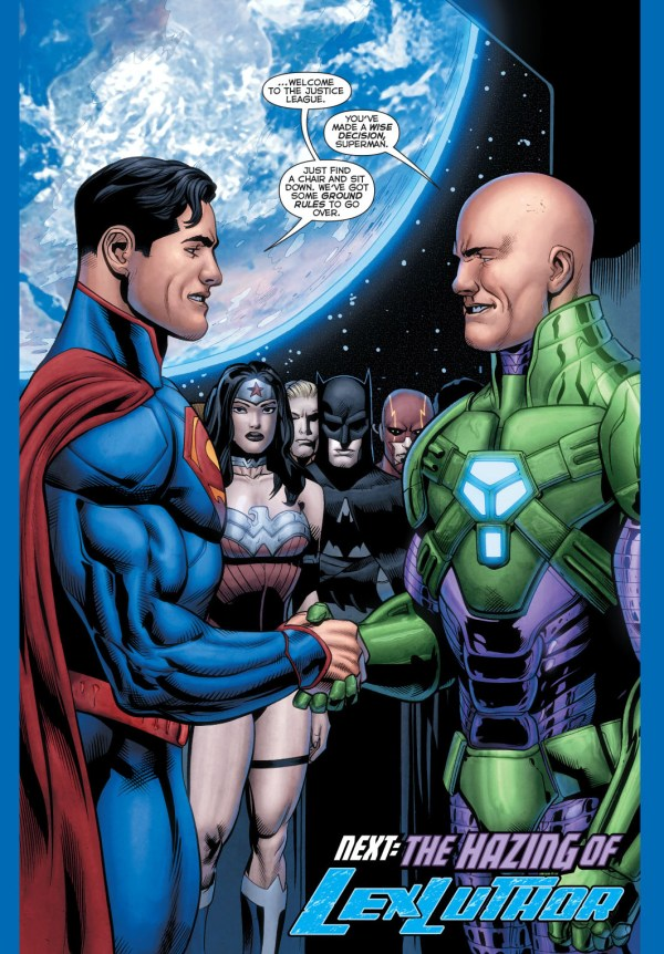 superman welcomes luthor to the justice league 4
