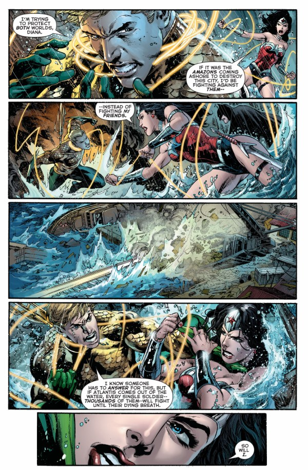 aquaman vs wonder woman 1 (throne of atlantis)