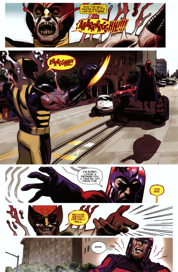 demon possessed wolverine vs magneto