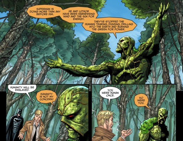 batman and constantine tries to recruit swamp thing
