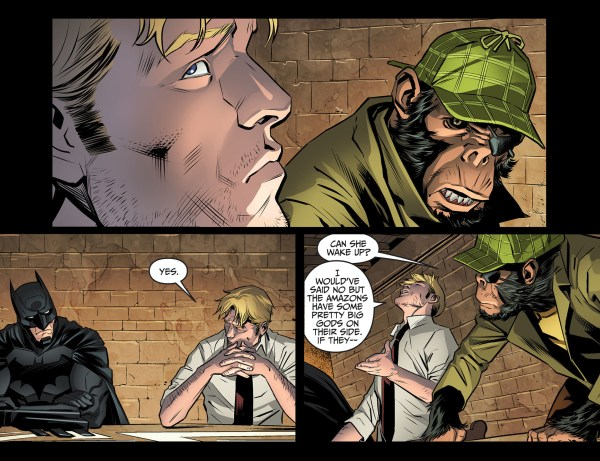 constantine admits knocking out wonder woman