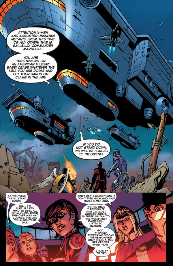 shield fires on the x-men