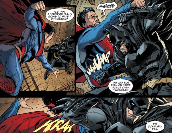batman shows superman why technique matters