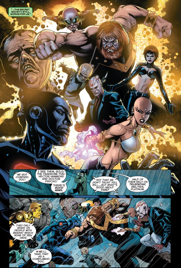the metal men vs the fearsome five