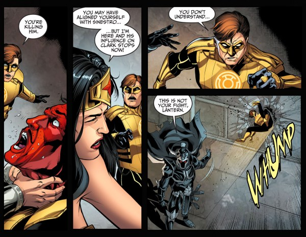 wonder woman chokes sinestro