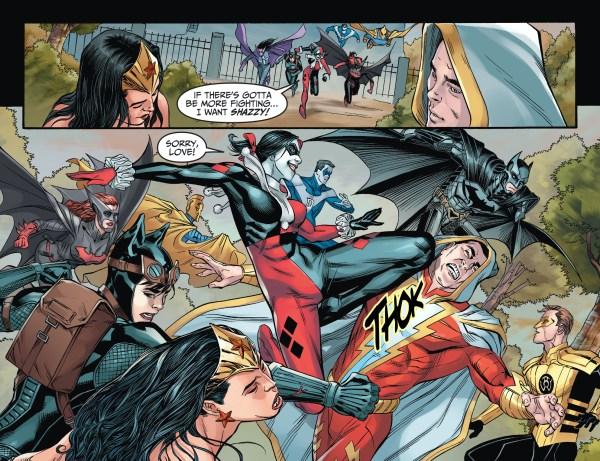 batman's team attacks superman's team