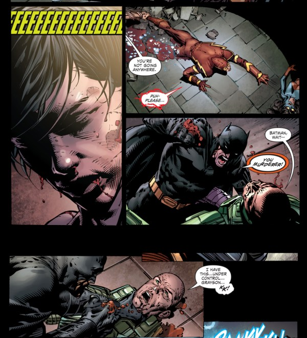 lex luthor stops nightwing's heart