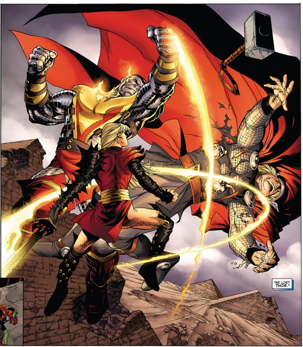 phoenix five colossus and magik vs thor