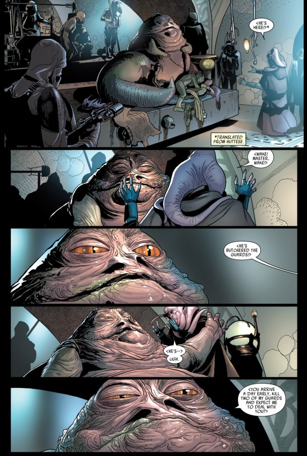 darth vader meets with jabba the hutt