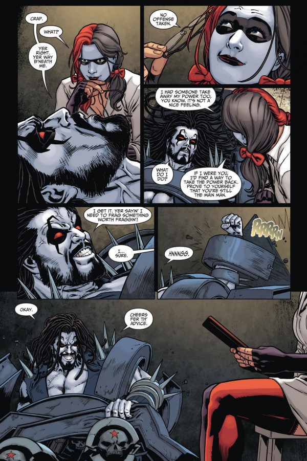 harley quinn forces lobo into therapy