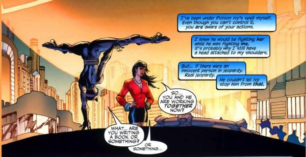 how superman broke free of poison ivy's control