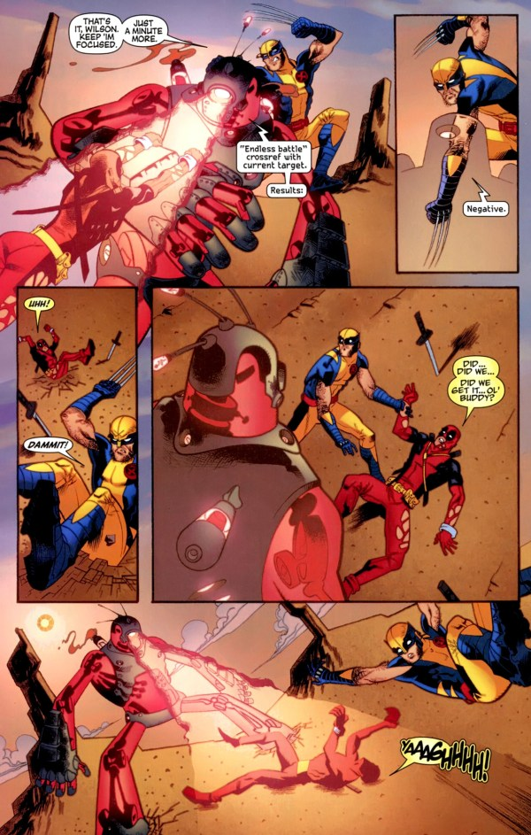 wolverine and deadpool vs shi'ar robot