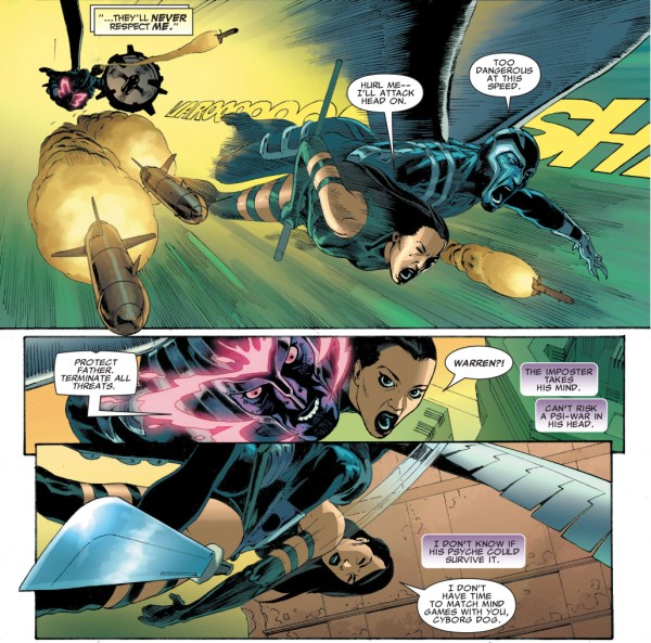 archangel and psylcoke vs their deathlok counterparts