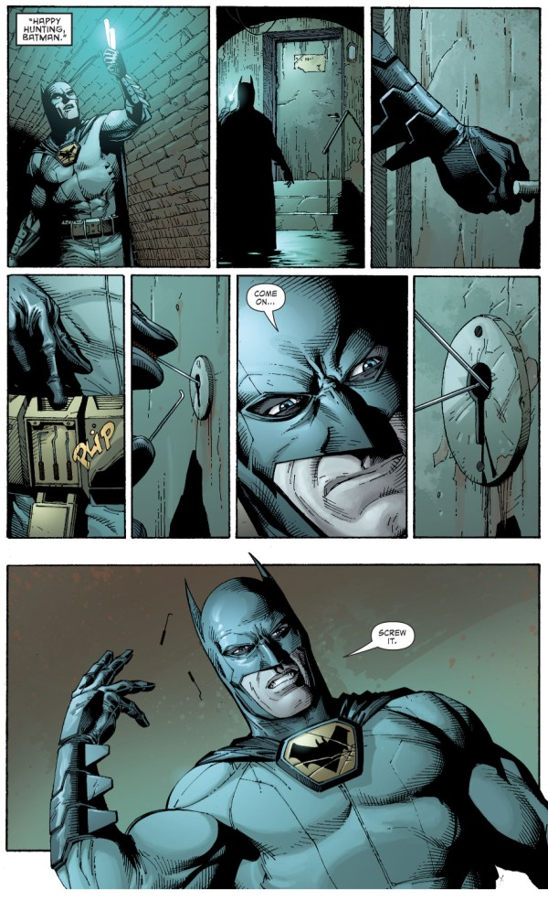 batman fails at lockpicking (earth 1)