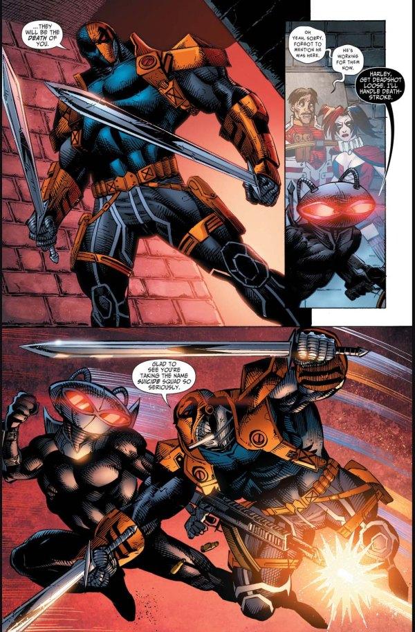 black manta and harley quinn vs deathstroke