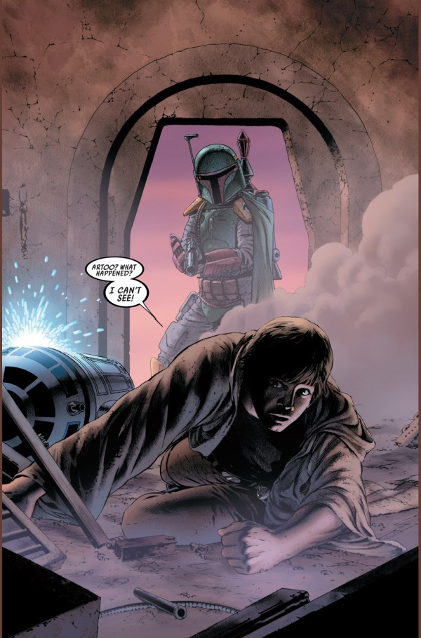 boba fett ambushes luke skywalker