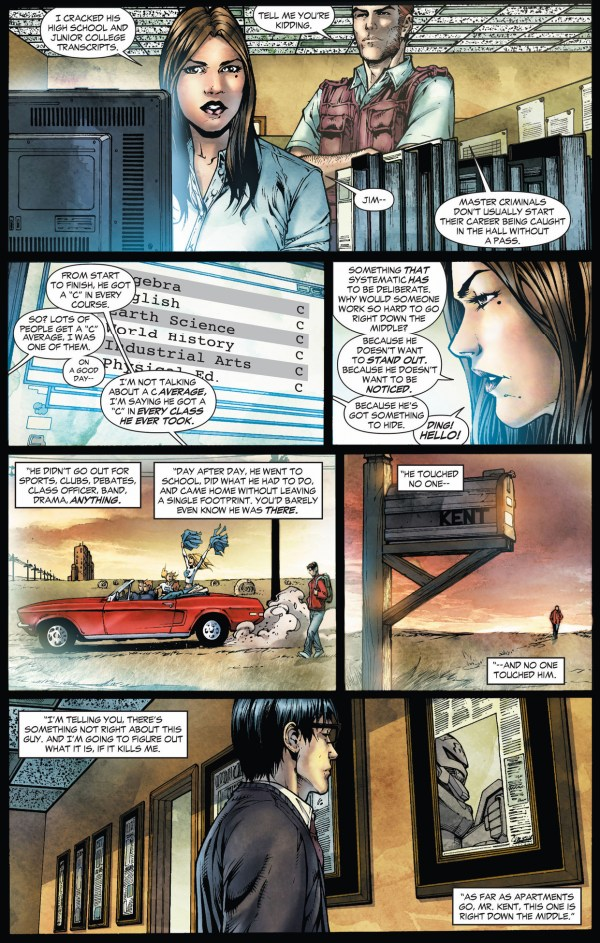 lois lane is suspicious of clark kent (earth 1)