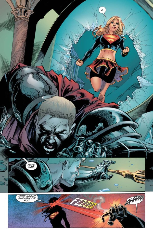 supergirl vs aquaman (convergence)