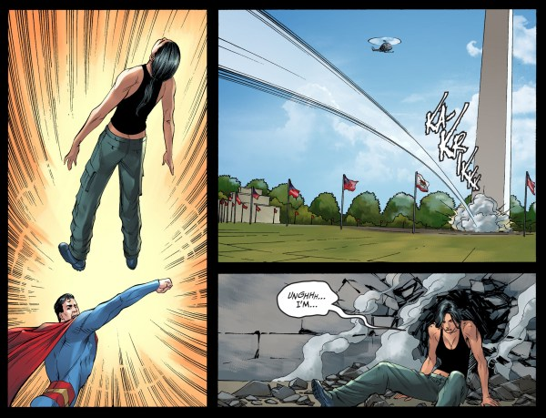 superman vs renee montoya (injustice gods among us)
