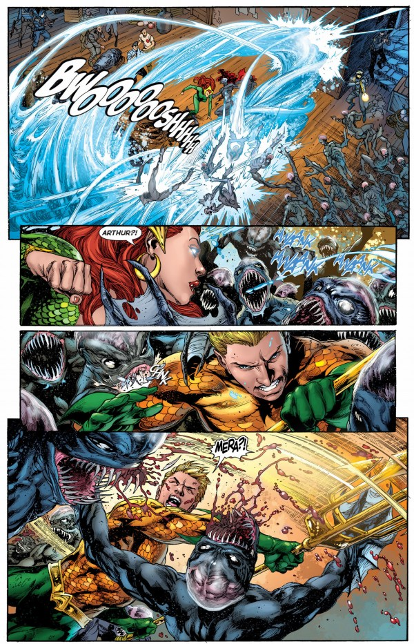 aquaman and mera vs the trench